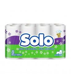 Solo Rulo Havlu 8'li 2 Katlı 3'lü Koli